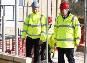 Mr Cameron with Kial Foy at Evolve by Barratt Homes